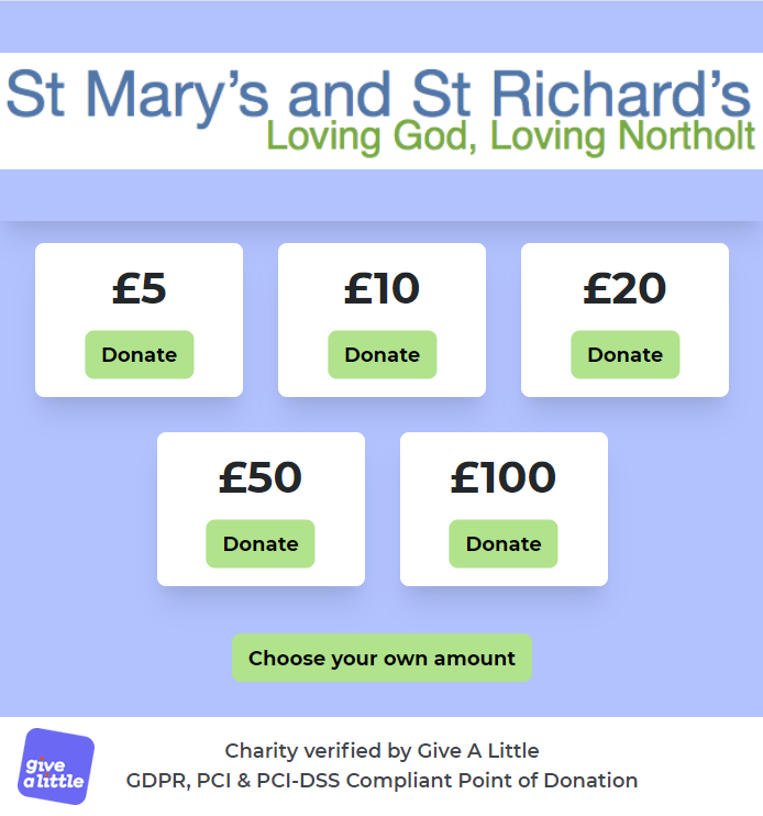 Screenshot of the online giving page